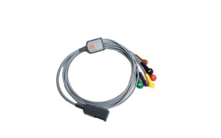 LifePak 12/15  12-lead ECG cable 6-Wire Precordial Leads (IEC) Part number: